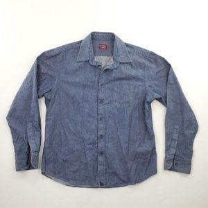 Untuckit Chambray Button Front Long Sleeve Shirt